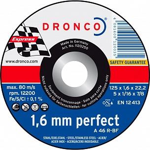 Отрезной круг по металлу универсальный Dronco A 46 R 125х1,6х22,23